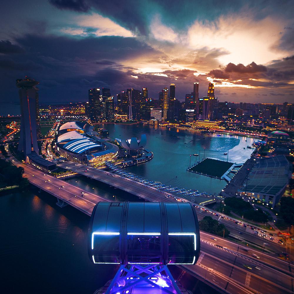 Größtes Riesenrad der Welt - Singapore Flyer