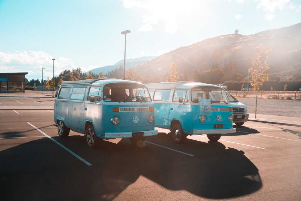 In Queenstown treffen wir unseren Zwilling: VW Volkswagen Westfalia Campervan