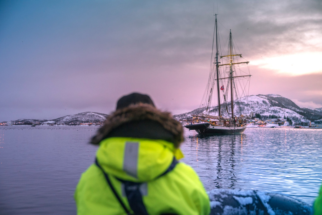 Whale Watching Tour Norway in a zodiac